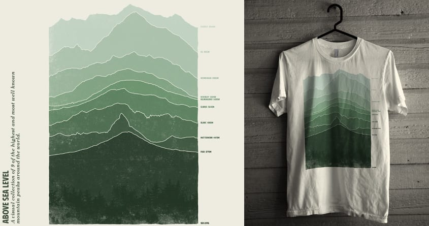 Above Sea Level A Cool Tshirt By Arzie On Threadless - Level above sea level