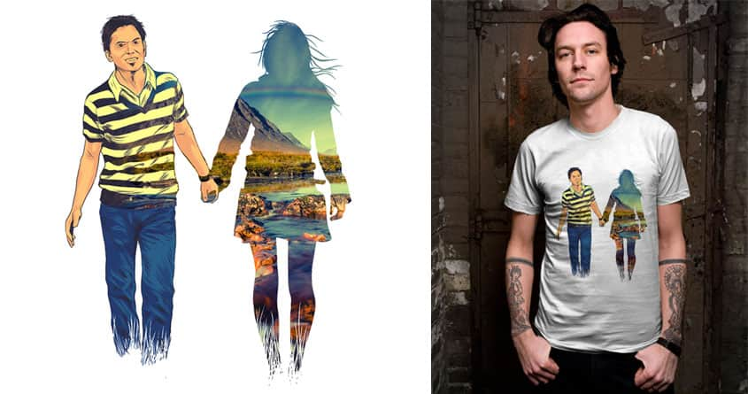 You are beautiful scene to be hold by kooky love on Threadless