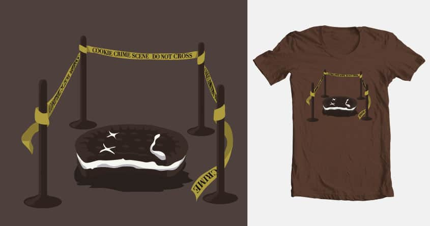 Cookie Crime Scene by acond3 on Threadless