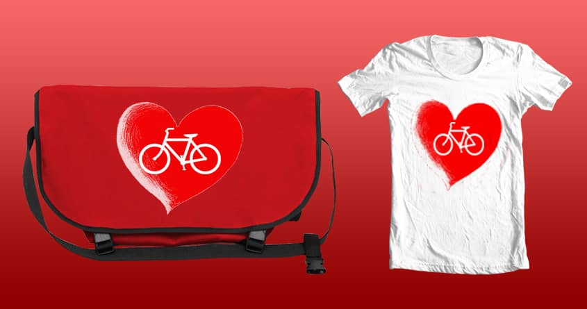 I Love My Bicycle! by FlaviaMarques on Threadless