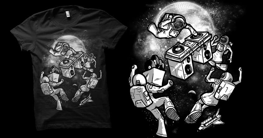 Intergalactic Dance Party by biotwist on Threadless