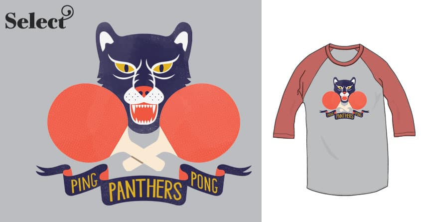 Ping-Pong Panthers by Wharton on Threadless