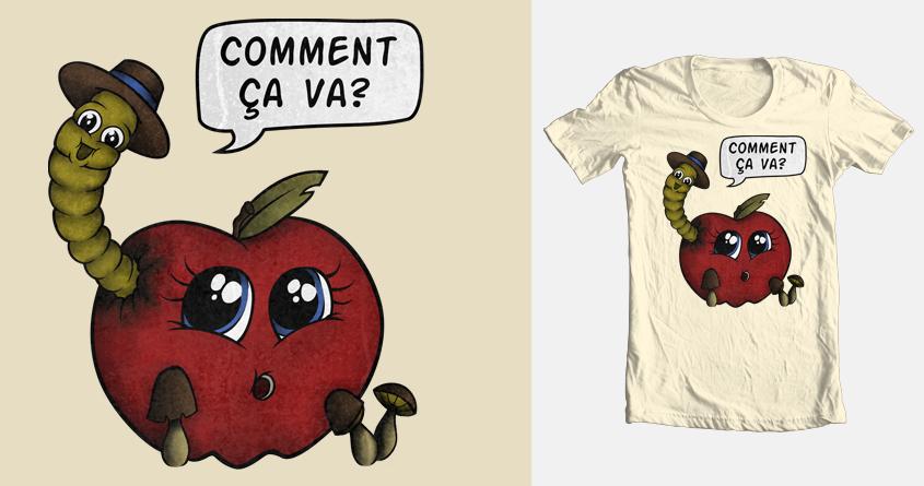 Le Ver et la Pomme by Super Rocker on Threadless