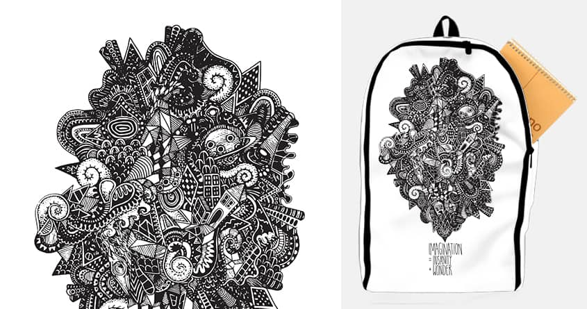 Imagination = Insanity + Wonder by sockpockets on Threadless