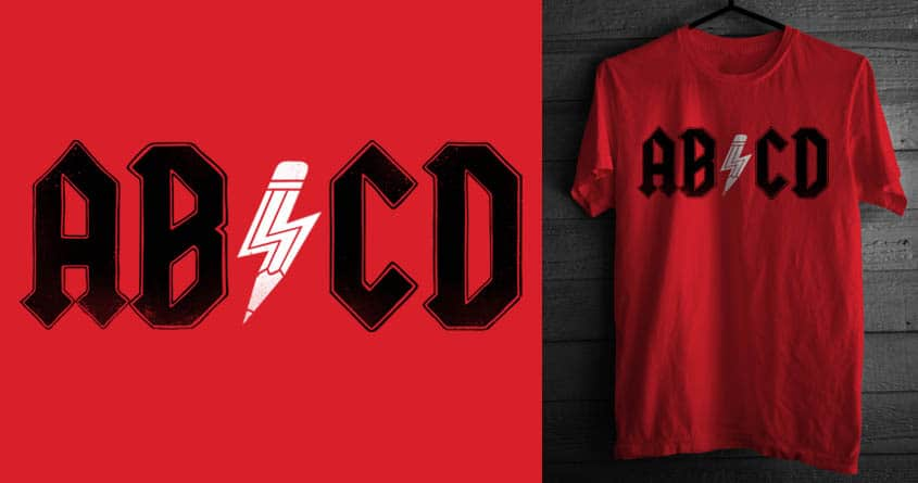 MY FIRST FOUR LETTER  ALPHABET ROCKS! by alfboc on Threadless