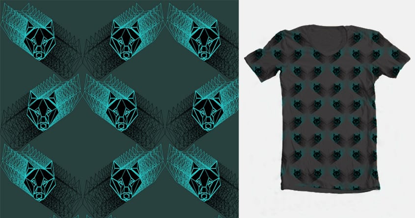 Wolf pattern by Ana-Marija on Threadless