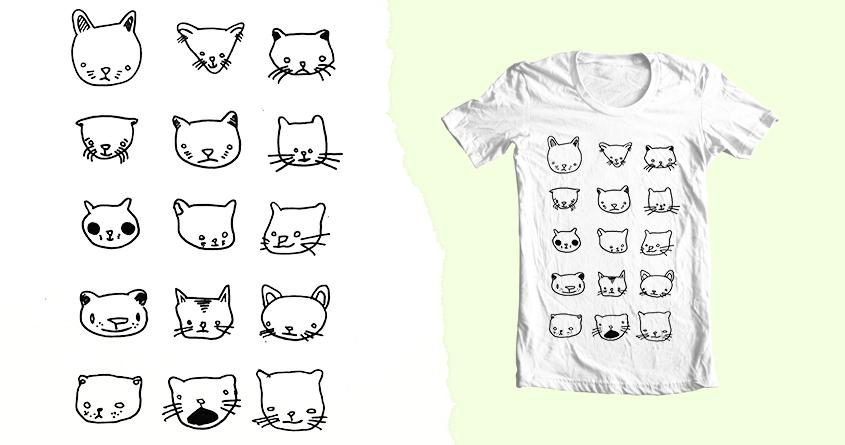 Drunken Cat Drawings by merkinspurlock on Threadless