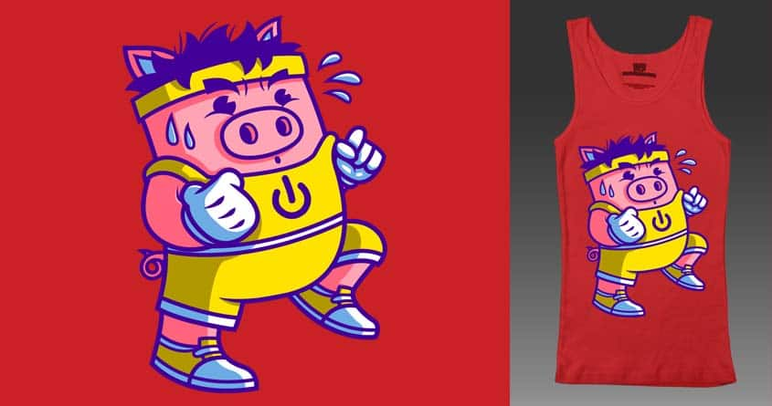 Power Pig Jogging: It's On! by krisren28 on Threadless