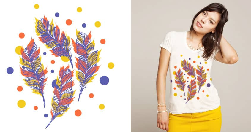 Feathers & Dots by yeohgh on Threadless