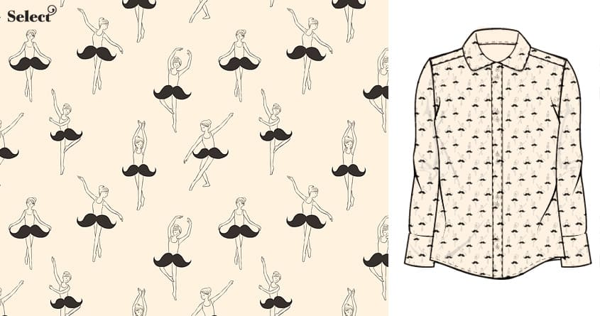 The Ballet of Mustache by ilovedoodle on Threadless