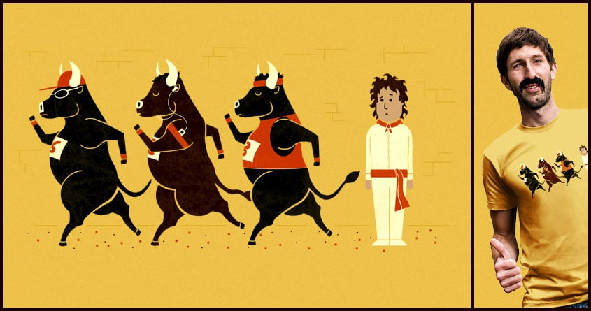 Run Of The Bulls by TeoZ and goliath72 on Threadless