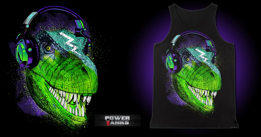 SoundTrip Dino by chingmoncheng on Threadless