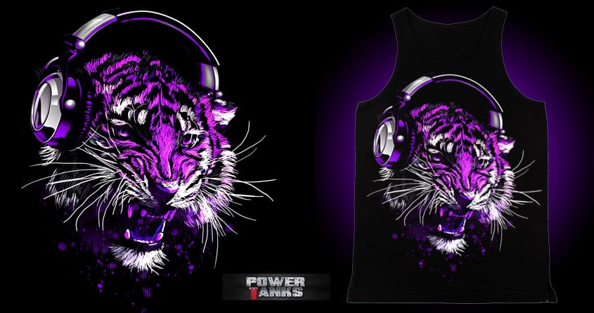 SoundTrip Tiger by chingmoncheng on Threadless