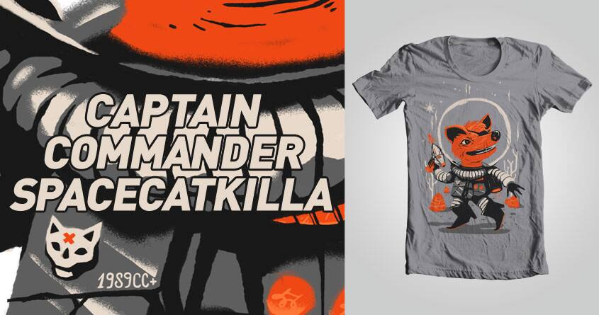 CAPTAIN COMMANDER SPACECATKILLA by ecsu on Threadless