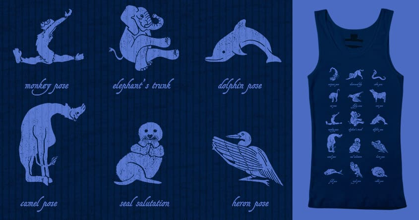 Animal Yogis by Kellabell9 on Threadless