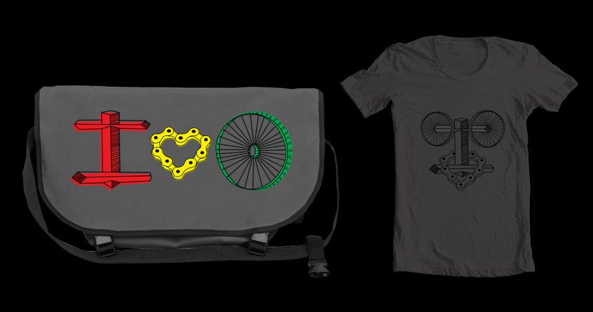 I love Bike by ndough on Threadless