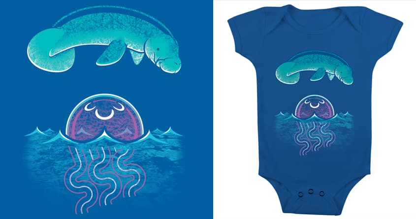 The Sea Cow Jumping Over the Moon Jellyfish by Musarter on Threadless