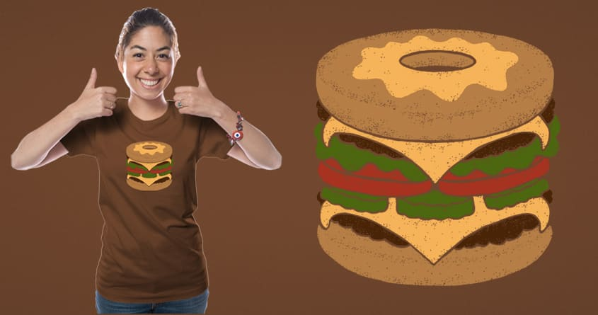 Donut Burger by messing on Threadless