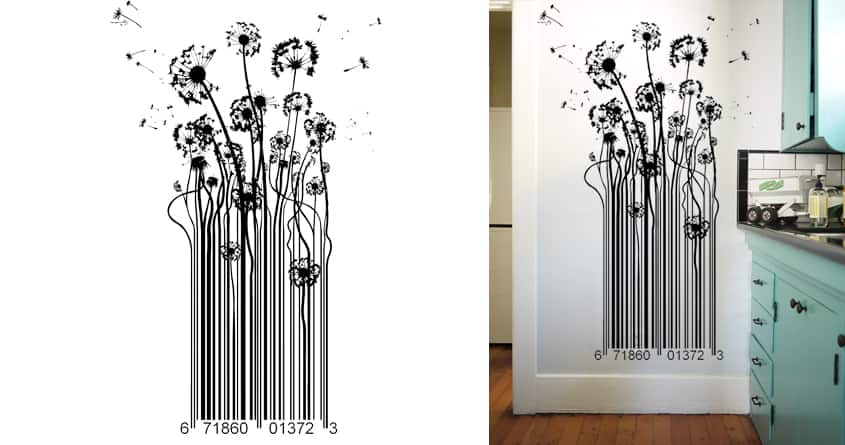 Blow Away Barcode  by MuckyTeez on Threadless