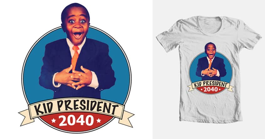 Kid President 2040 by golfinguy003 on Threadless