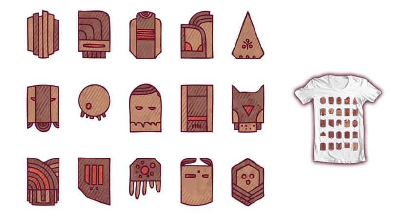 Mask and stuff, but without the stuff by againstbound on Threadless
