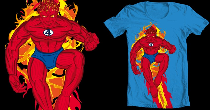 Human Torch Flaming On by Keroth on Threadless