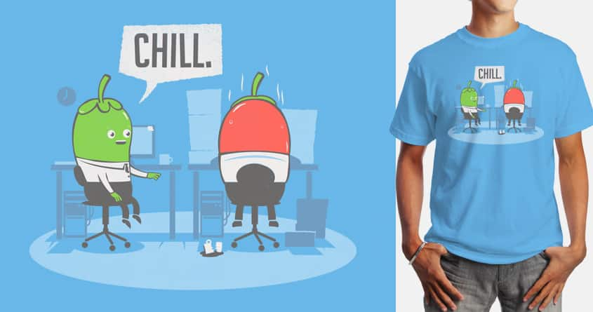 Hard day at work by 3rick05 on Threadless