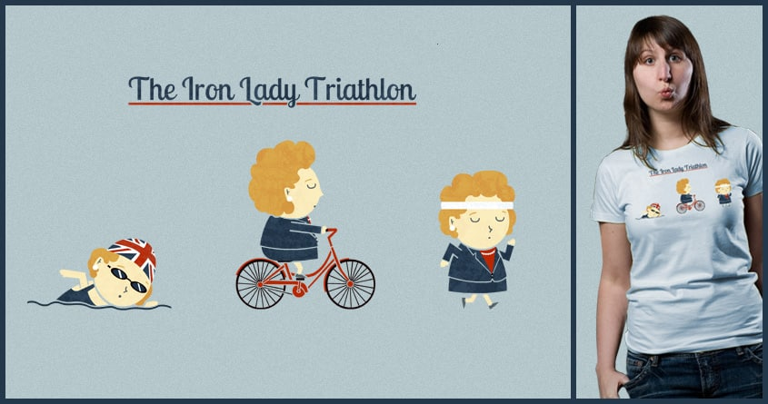 Iron Lady Triathlon by TeoZ on Threadless