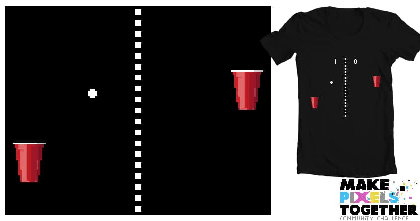 Beer Pong by unicorndinosaurs on Threadless