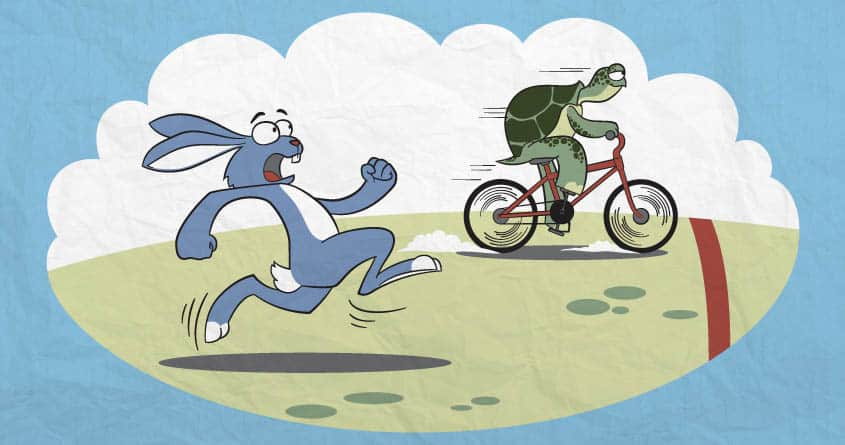 Turtle and rabbit race by eqbal and cadazt on Threadless