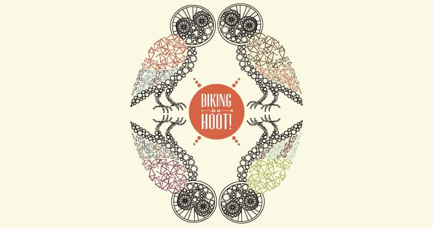 Biking is a hoot by justin.theroux.7 on Threadless