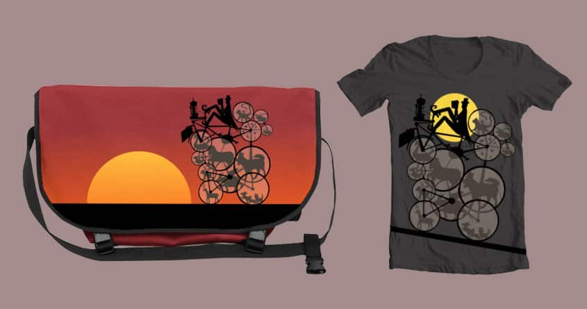 The Mysterious Cycling Zookeeper by animalhairs on Threadless