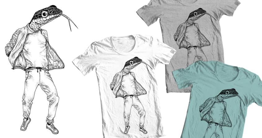 Hipstersnake by camilaplate on Threadless