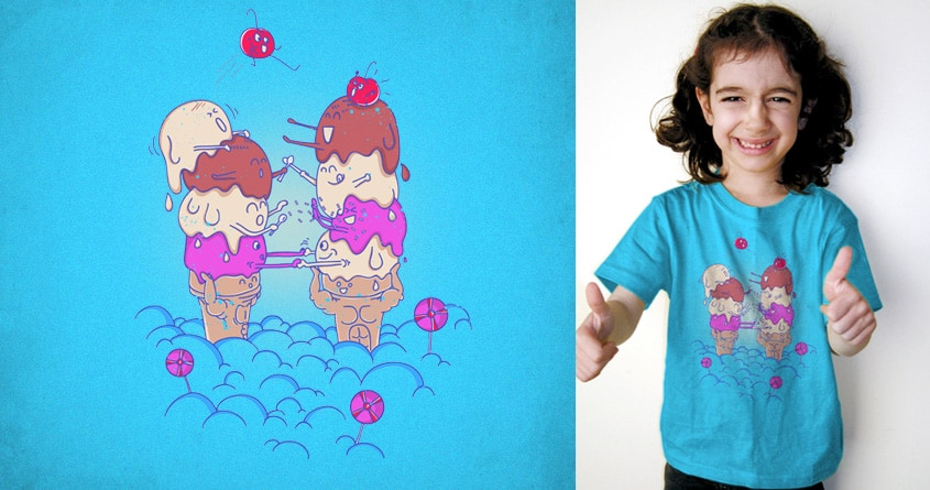 Ice Cream Chicken Wars by GODZILLARGE and FRICKINAWESOME on Threadless