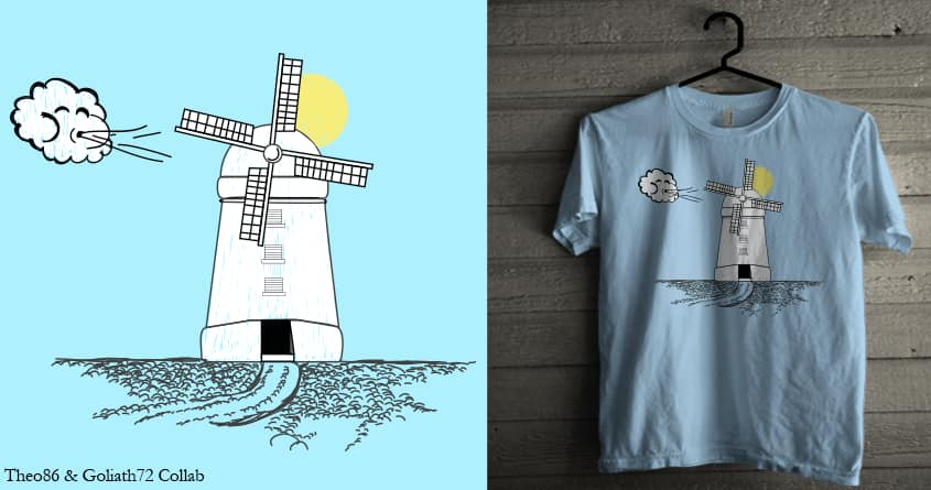 Blowing in the wind by Theo86 and goliath72 on Threadless