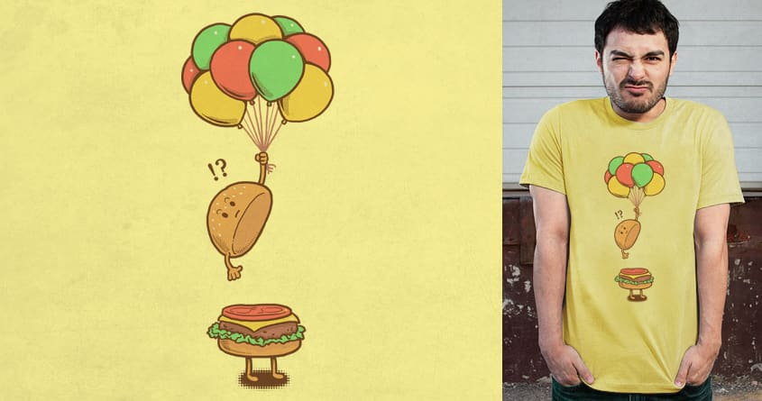 Flying Hamburger by ben chen on Threadless