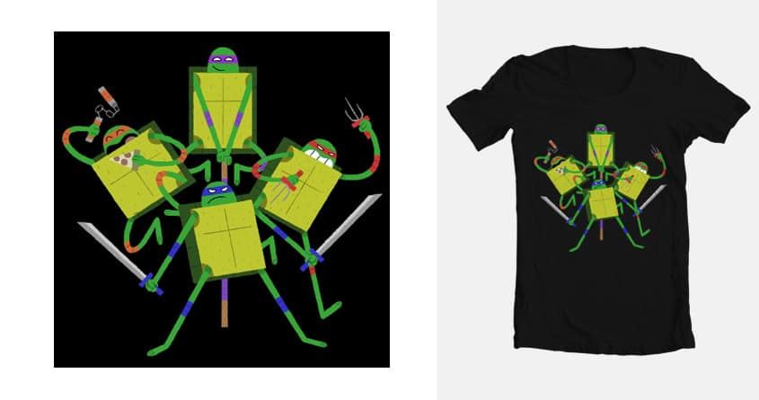 Turtle Power by chrisohara on Threadless