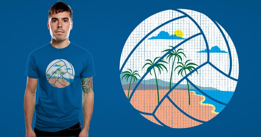 Beach Volleyball by messing on Threadless