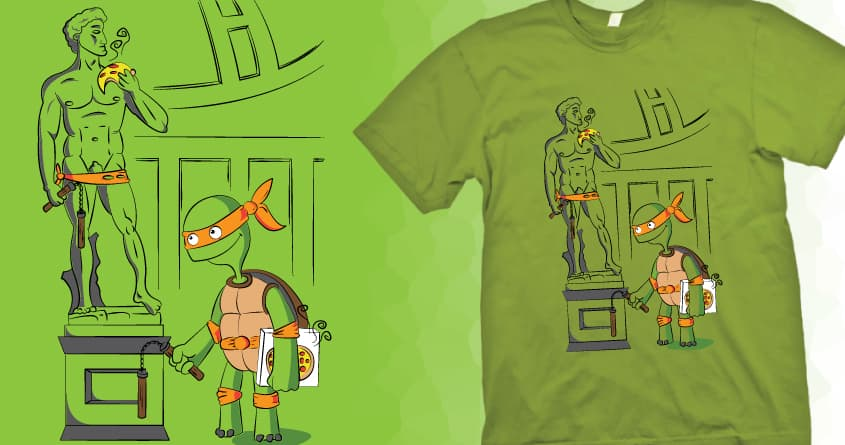 Michelangelo's David by BMCartoons on Threadless