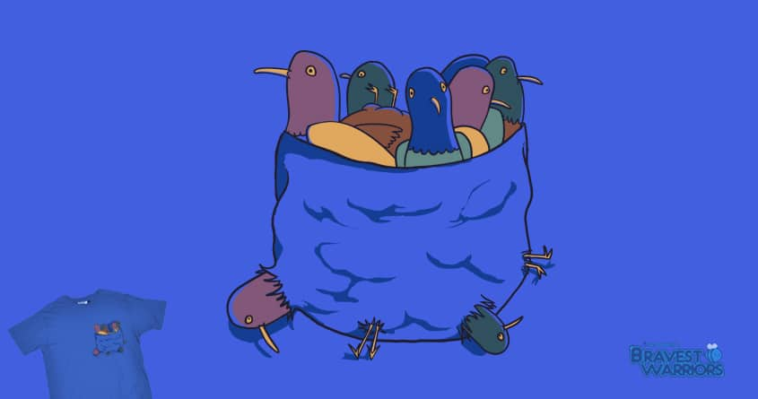 Pocket Full of Space Chickens by goliath72 and dudeowl on Threadless