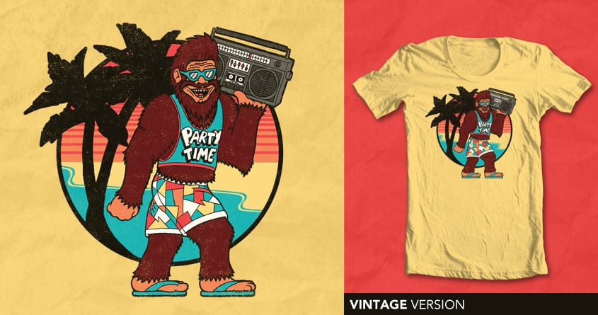 Bigfoot on Vacation by SteveOramA on Threadless
