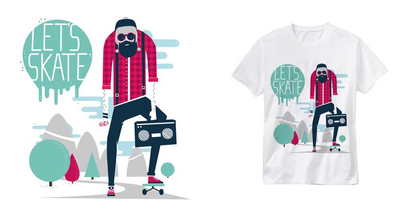 Let's skate by spazio C on Threadless