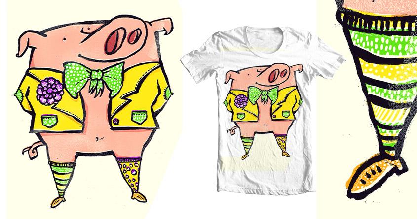 Fashion Pig by aleksandartopic on Threadless