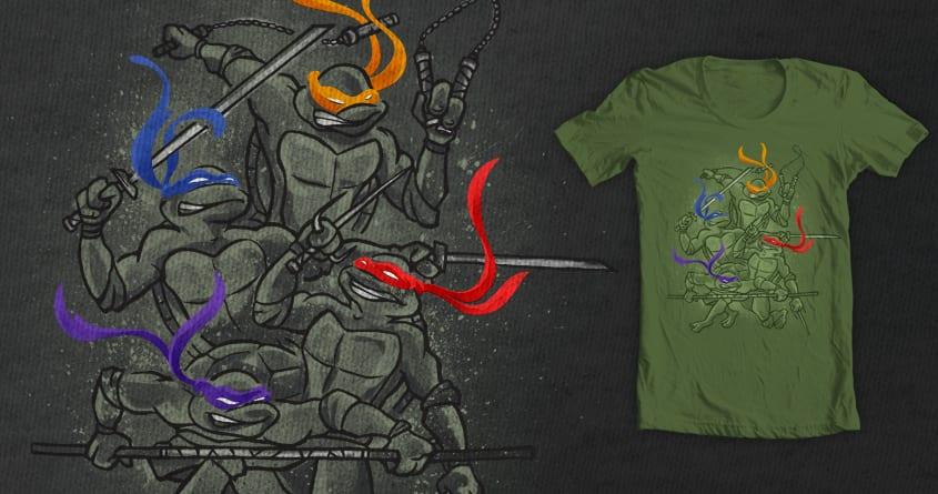 Half Shell Heros by Link Design on Threadless