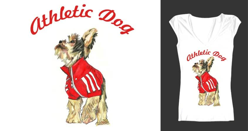 Athletic Dog  by marianaps on Threadless