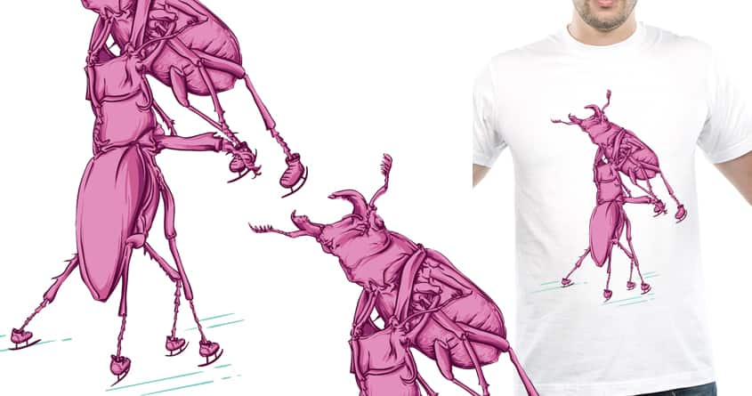 Stag beetle ice skating by FOURTHWAY on Threadless