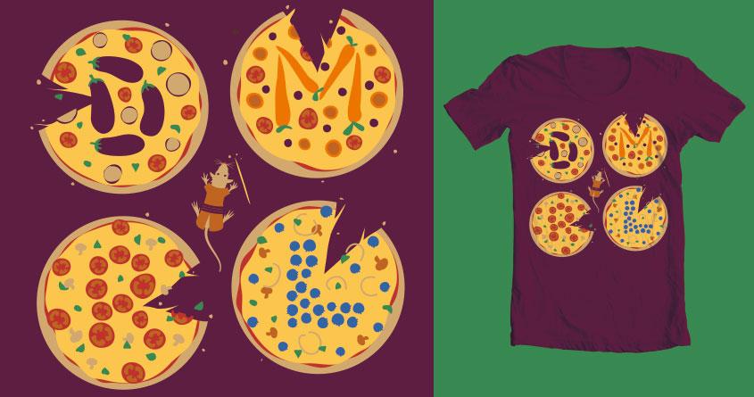 Teenage Mutant Ninja Pizzas by rodrigomuller on Threadless