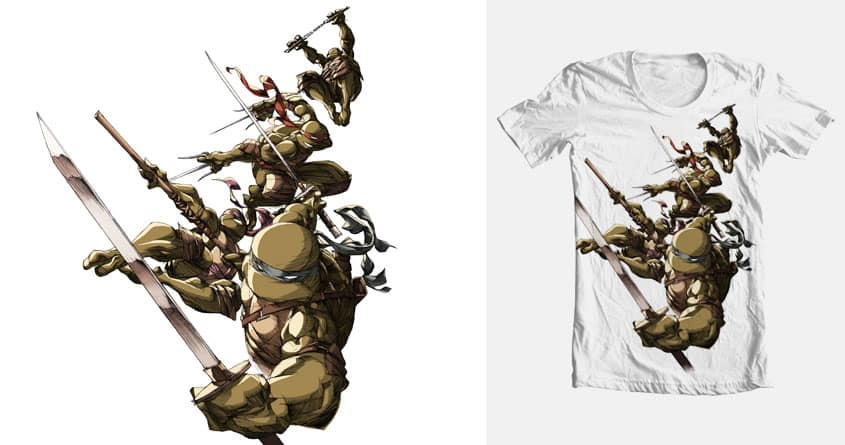 Turtles! To Battle! by zeropointfive on Threadless