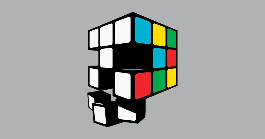 Rubix Skull by MEKAZOO on Threadless