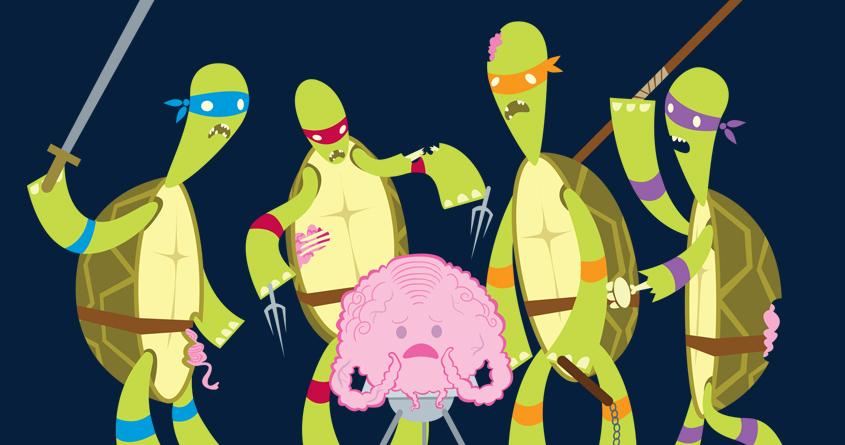 Teenage Zombie Ninja Turtles by spicysteweddemon on Threadless